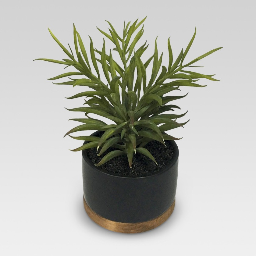 Artificial Plant in Black Pot Medium
