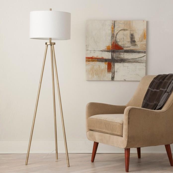 Ellis Tripod Lamp Brass