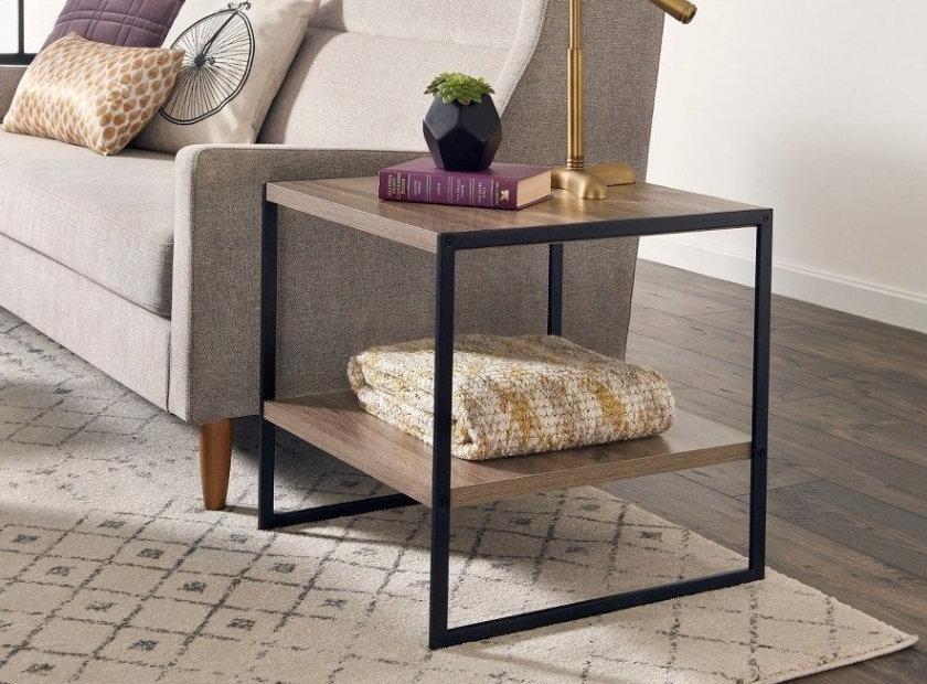 End Table Mixed Material