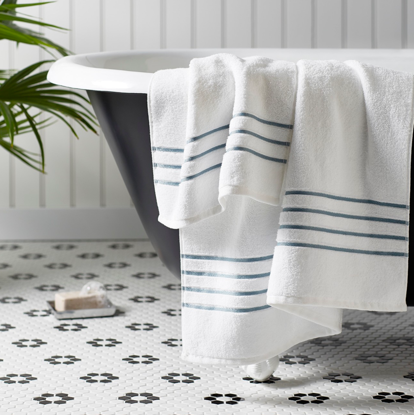 Luxury Stripe Accent Bath Towels